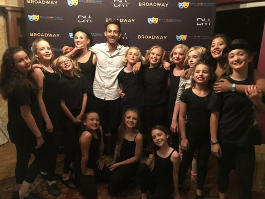 Musical Theatre Masterclass founder Dane Marias with his students at a recent production